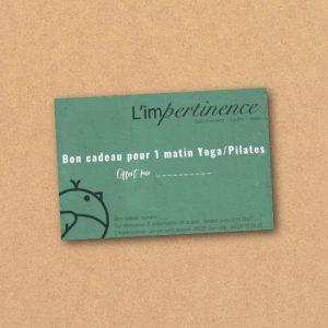 Bon cadeau Matin ygo L'impertinence Grenoble